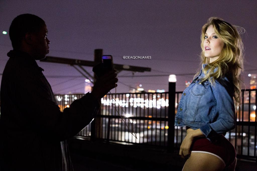 Gabrielle Romanello being shot by @DeaqonJames