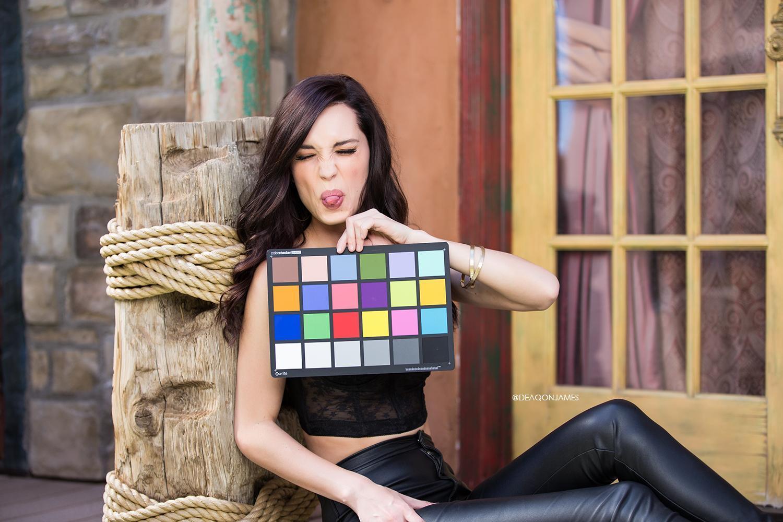 Deaqon James Photographs Pamela Horton's Color Card